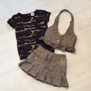 Hannah Montana outfit jean skirt & vest